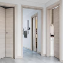 Porta da interno battente Resort Larice Ghiaccio 80 x H 210 cm reversibile