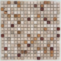 Mosaico Travertino 30,5 x 30,5 cm marrone, beige