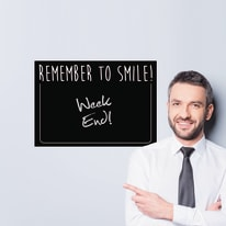 Sticker Lavagna M Remember to  smile