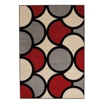 Tappeto Opera sixties grigio, rosso, beige 133 x 190 cm