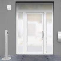 portoncino d'ingresso PVC Condo21 bianco L 170 x H 250 sx
