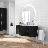 Mobile bagno Sting nero L 138 cm