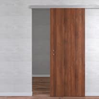 Porta da interno scorrevole One walnut noce 90 x H 210 cm reversibile