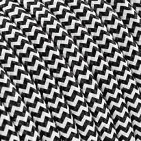 Cavo tessile bianco/nero