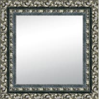 specchio Traforata nero e argento 50 x 50 cm
