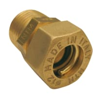 "Raccordo dritto a stringere per tubi rame M1/2"" x 14 mm"