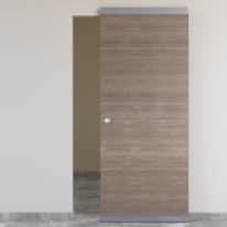 Porta da interno scorrevole Stylish Easy binario nascosto girgio 91 x H 221 cm reversibile