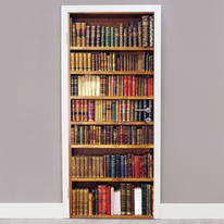 Sticker Door Cover Bookcase