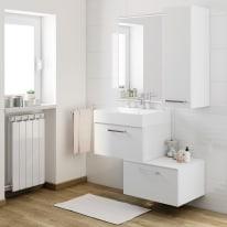 Mobile bagno Neo Line L 60 x P 48 x H 32 cm 1 cassetto bianco