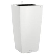 Vaso Cubico Color con set autoirrigazione Lechuza 40 x 40 cm bianco