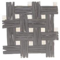 Formella Corba bianco, nero 30 x 30 cm