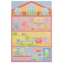 Tappeto Bimba Dollhouse Actline multicolore 133 x 190 cm