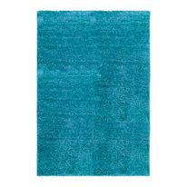 Tappeto Curly azzurro 150 x 220 cm