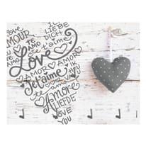 Bacheca porta chiavi Love 4 posti Fantasia 20 x 15 x 1 cm