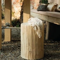 Tronco tondo legno 30 40 x h 45 cm grezzo prezzi e for Sfere legno leroy merlin