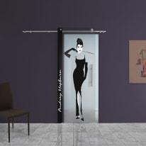 Porta da interno scorrevole Audrey 88 x H 220 cm sx