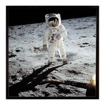 Stampa incorniciata Buzz on the Moon 30 x 30 cm