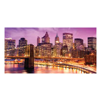 quadro su tela Brooklyn violet 90x190