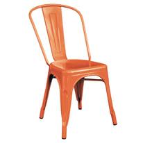 Sedia impilabile Industrial arancione