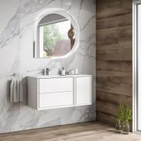 Mobile bagno Bellagio bianco opaco L 105 cm