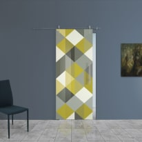 Porta da interno scorrevole Carpet 5/binario Lux 88 x H 215 cm sx
