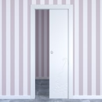 Porta da interno scorrevole Dwarf white bianco 70 x H 210 cm reversibile