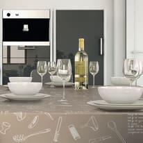 Tovaglia plastificata Kitchen marrone 220 x 140 cm