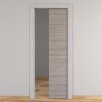 Porta da interno scorrevole One grigio/white 80 x H 210 cm reversibile