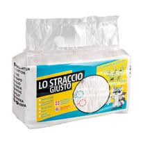 Panno Stracci bianchi. 500gr di panni 40x50 multisuperficie cotone