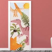 Sticker Door Cover Dinosaurs
