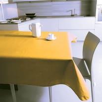 Tovaglia plastificata Monaco giallo ø 160 cm