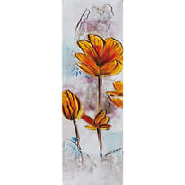 quadro dipinto a mano Fiori gialli2 30x90