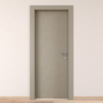 Porta da interno battente The Thing grigio 70 x H 210 cm sx