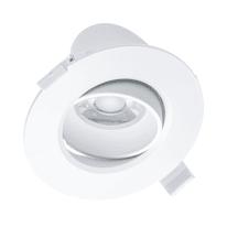 Faretto da incasso bianco LED integrato orientabile tonda Ø 10,5 cm 10 W = 700 Lumen luce naturale