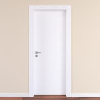 Porta da interno battente Plaza Frassino bianco 70 x H 210 cm reversibile