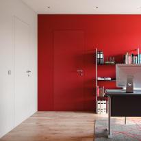 Porta da interno battente Pollock filomuro grezza 80 x H 210 cm reversibile