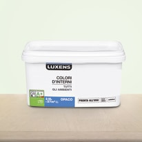Idropittura lavabile Mano unica Verde Verde 6 - 2,5 L Luxens