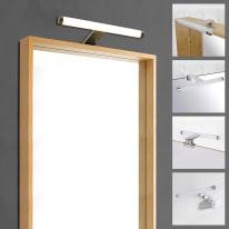 Luce Da Specchio Solar Con Kit Multi Attacco Cromo 30 Cm 5 5 W 480