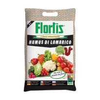 Concime biologico per orto Humus di lombrico Flortis 5 L