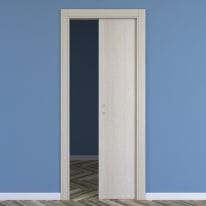 Porta da interno scorrevole One ash wood frassino 70 x H 210 cm reversibile