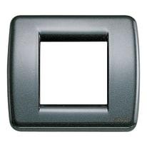 Placca 2 moduli Vimar Idea antracite metallizzato