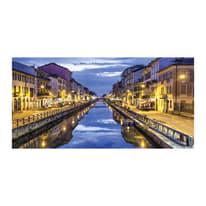 quadro su tela Milano navigli 90x190