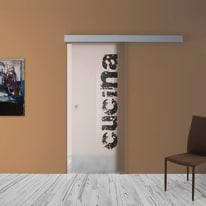 Porta da interno scorrevole Cucina 88 x H 215 cm reversibile