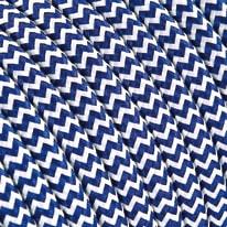 Cavo tessile bianco/blu