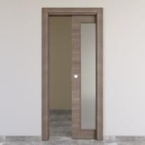 Porta da interno scorrevole Stylish vetro gris clair 70 x H 210 cm reversibile