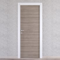 Porta da interno battente One grigio/bianco 70 x H 210 cm reversibile