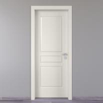 Porta da interno battente Chelsea bianco 60 x H 210 cm sx