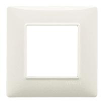 Placca 4 moduli Vimar Plana bianco granito