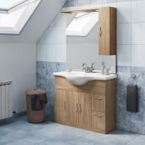 Mobile bagno Blanca rovere L 105 cm