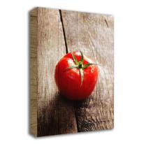 Quadro in legno Tomato on wood 35x50